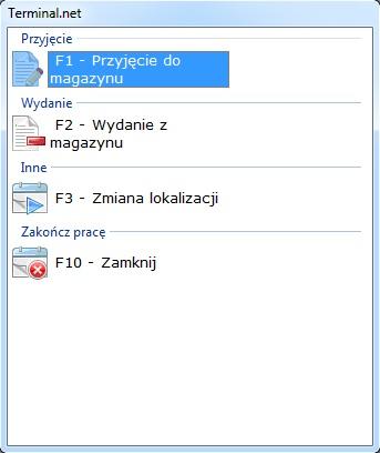 Oprogramowanie terminal
